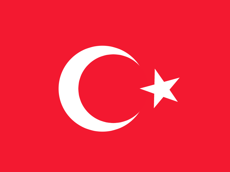 Flag of Turkey vector logo