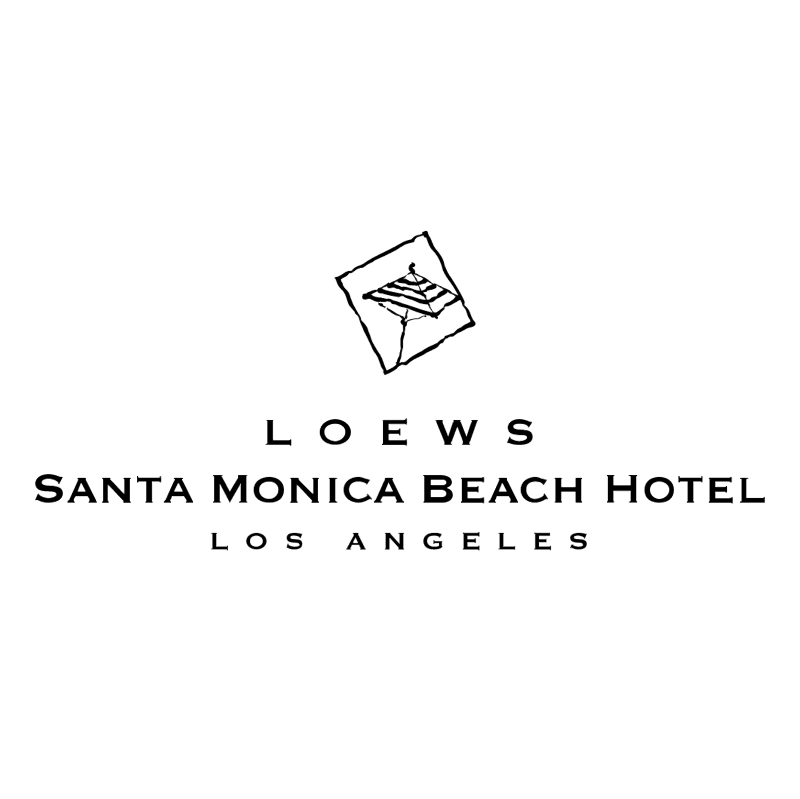 Loews Santa Monica Beach Hotel vector