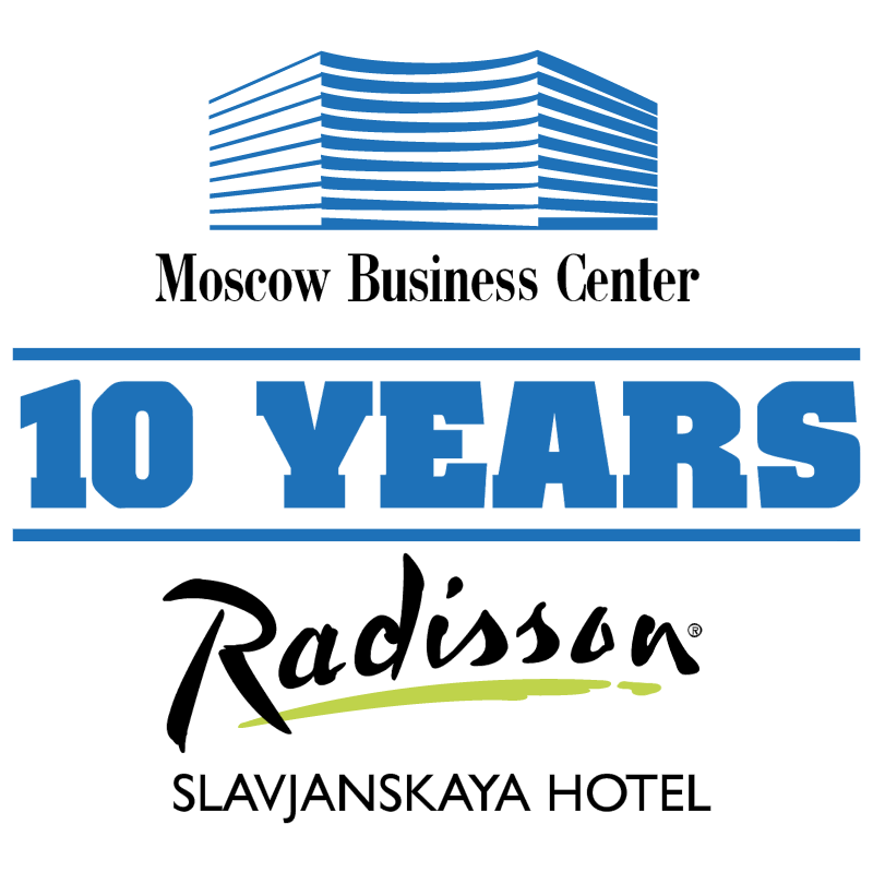 Moscow Business Center 10 Years vector