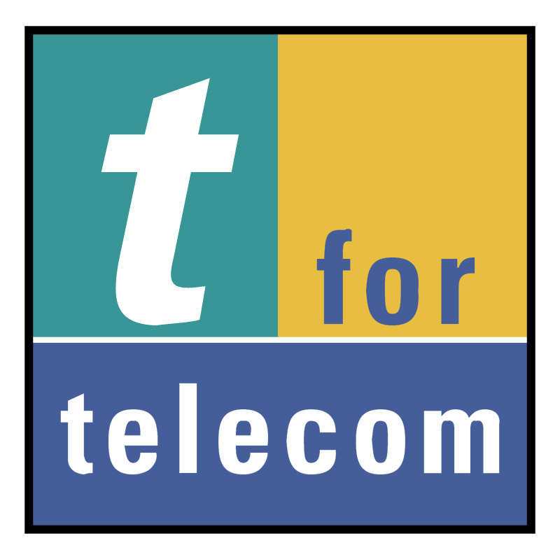 t for telecom vector logo