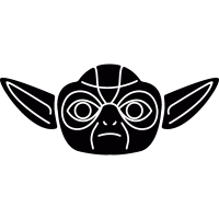 Yoda portrait vector