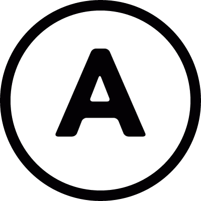 Letter A inside a circle logo