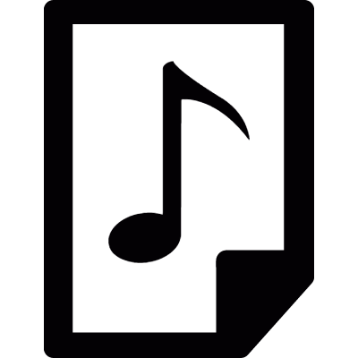 Audio file logo