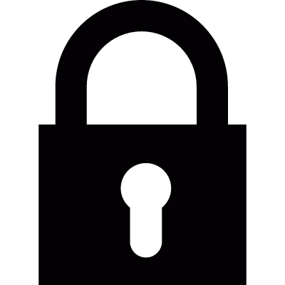Locked padlock vector logo