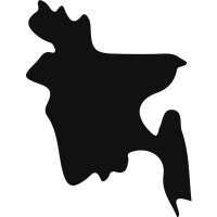 Bangladesh country map silhouette vector