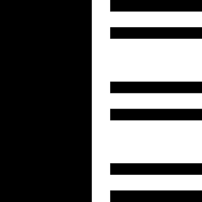 Layout of a column with rows vector logo