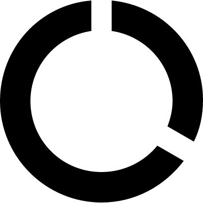 Round data usage symbol logo