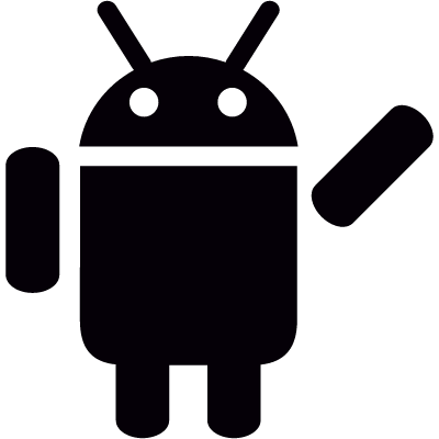 Android with Arm Lifted vector logo