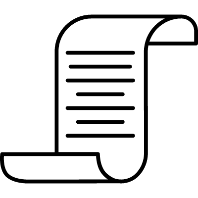 Scroll with Text logo