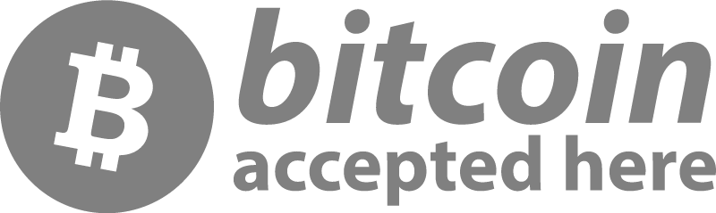 Bitcoin Accepted Here BTC vector