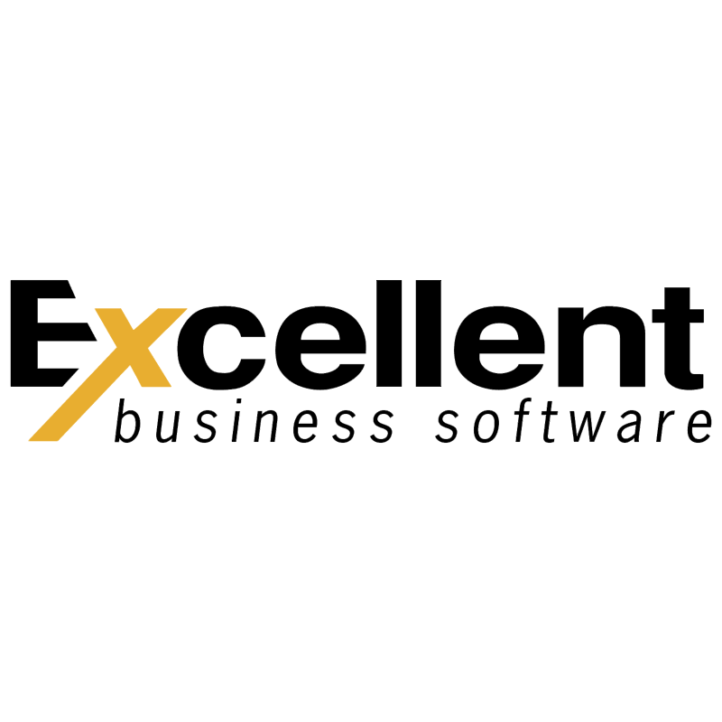Excellent Business Software vector