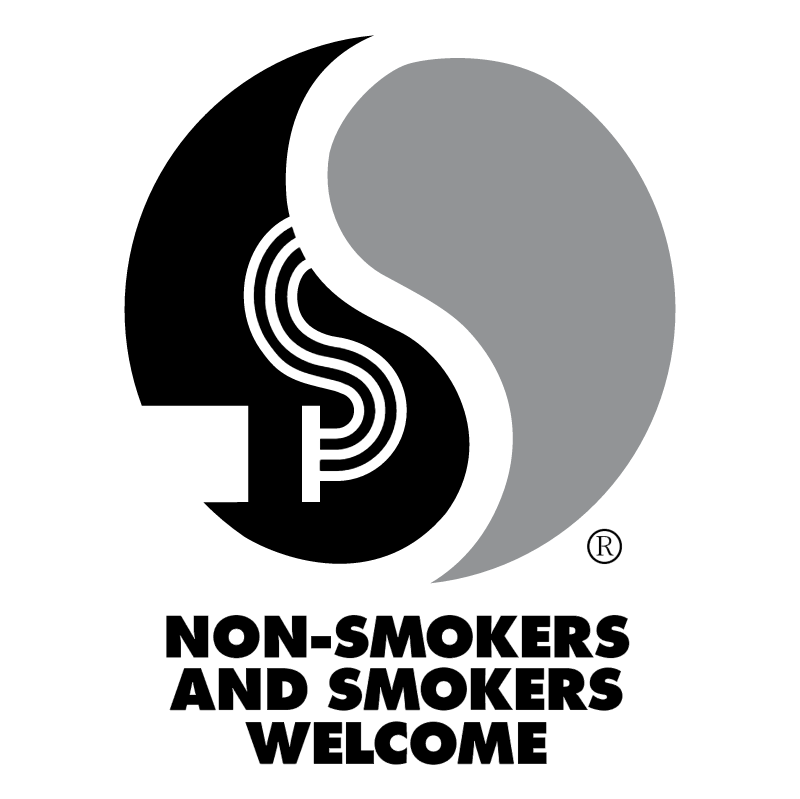 Non smokers and smokers welcome vector logo