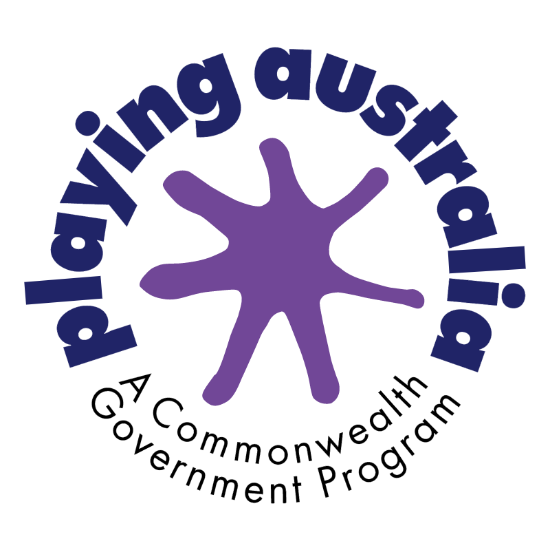 Playing Australia vector logo