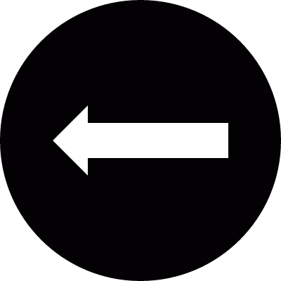 Arrow pointing to left in a circle vector logo