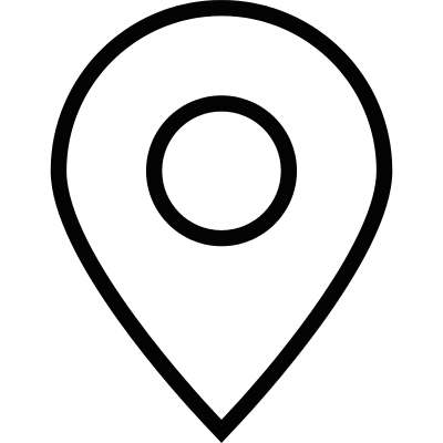 Blank map pointer vector logo