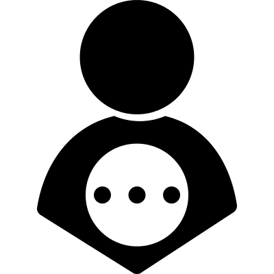 Profile user with three dots logo