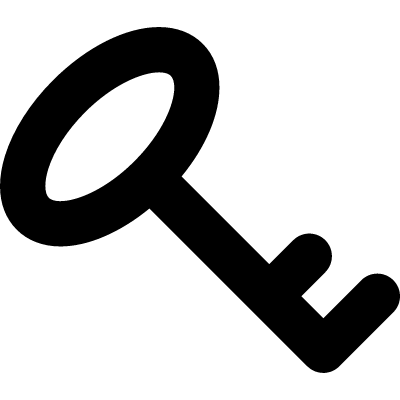 Key password interface symbol rotated to left vector logo