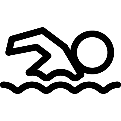 Swimming silhouette vector logo