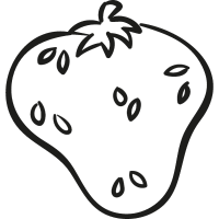 Organic Strawberry vector