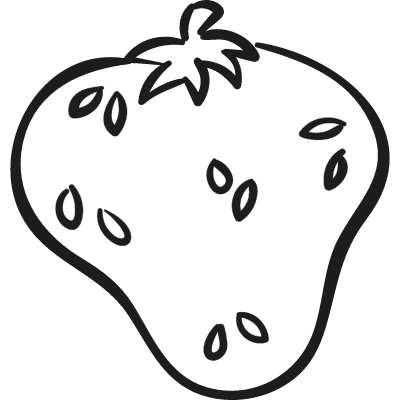Organic Strawberry vector logo