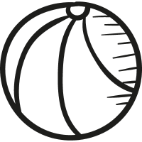 Draw Basketball Ball vector