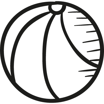 Draw Basketball Ball vector logo