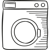 Old Washing Machine vector