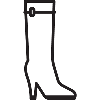 Women High Boot vector logo