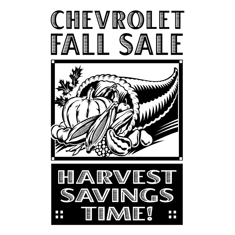 Chevrolet Fall Sale vector
