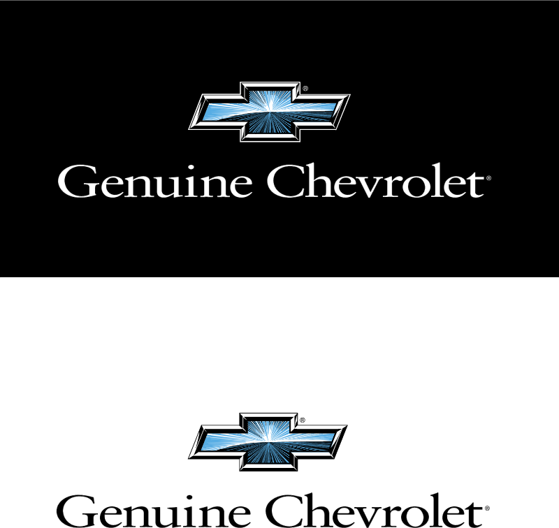 Chevrolet Genuine logo vector