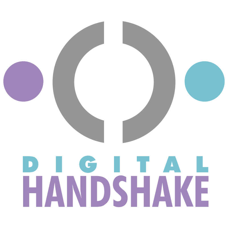 Digital Handshake vector