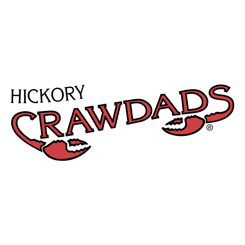 Hickory Crawdads vector