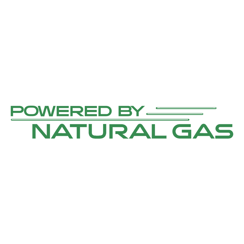 Powered by Natural Gas vector logo