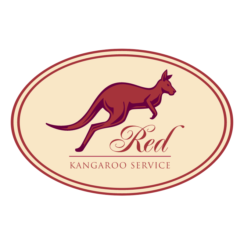 Red Kangaroo Service vector