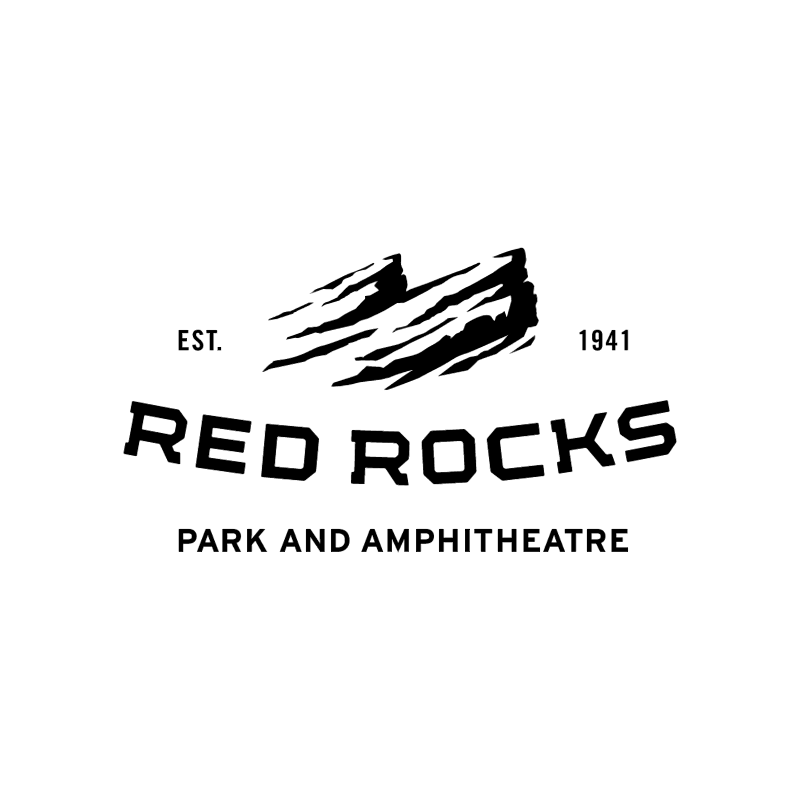 Red Rocks vector logo