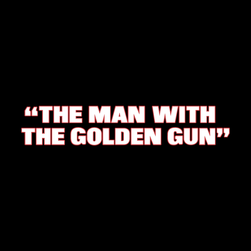The Man With The Golden Gun vector logo