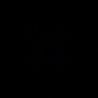 Geometric flower vector