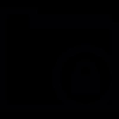 Blocked folder vector logo