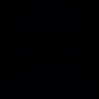 Short hair woman vector logo