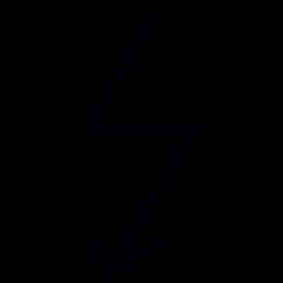 Thunder Bolt Arrow vector logo