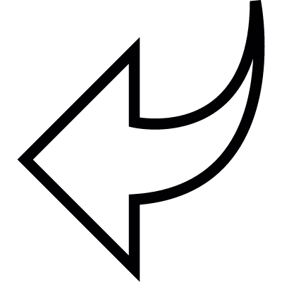 Arrow shape pointing left, IOS 7 interface symbol vector logo