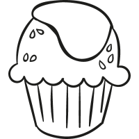 Cupcake with Cream vector