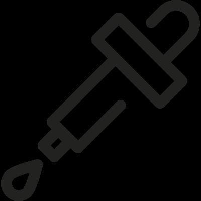 Eyedropper with drop vector logo
