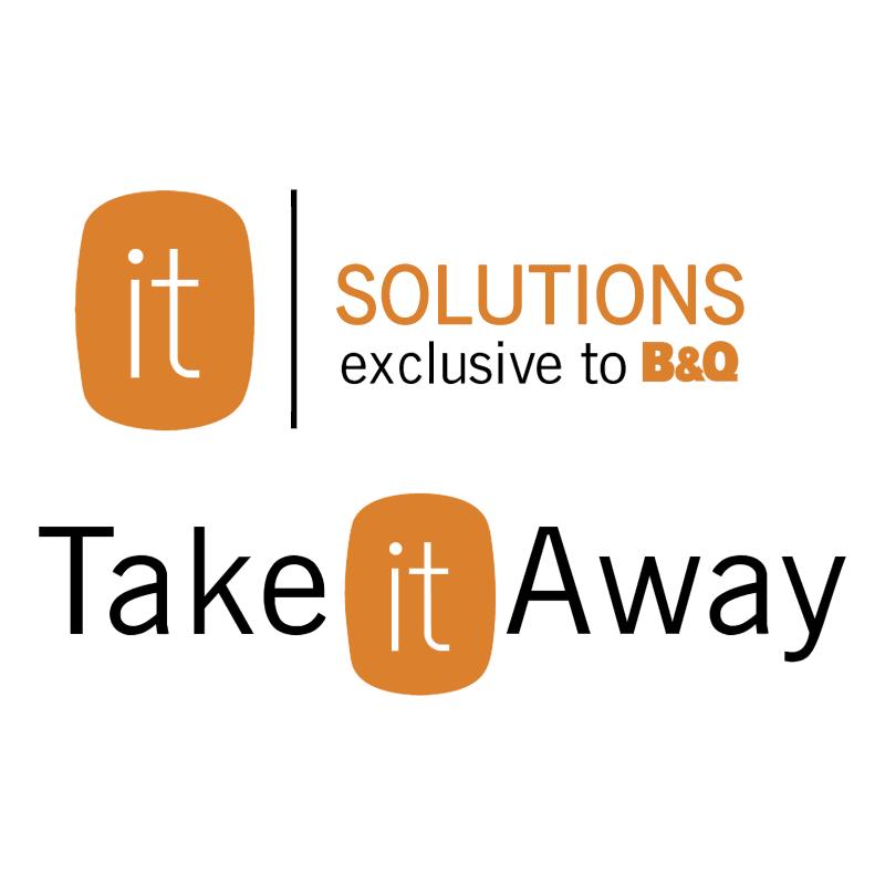B&Q it Solutions furniture range vector