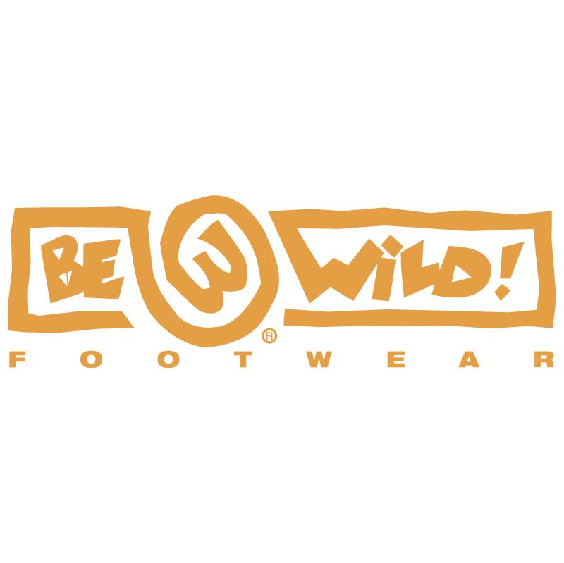 Be Wild Footwear vector logo