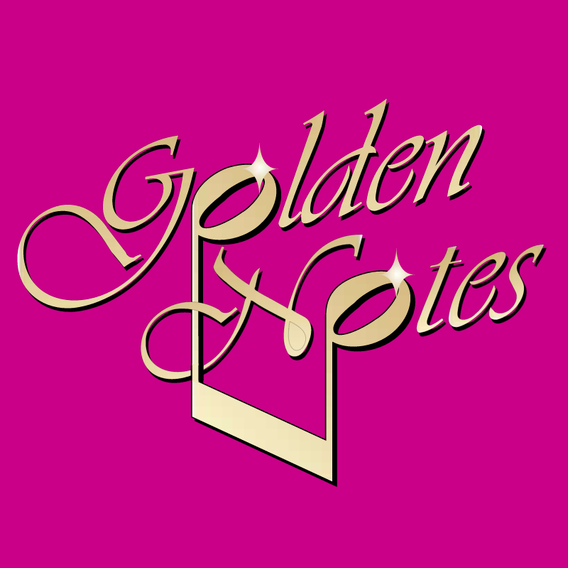 Golden Notes vector