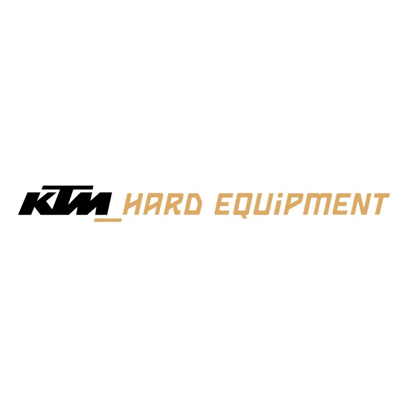 KTM Hard Equipment vector logo