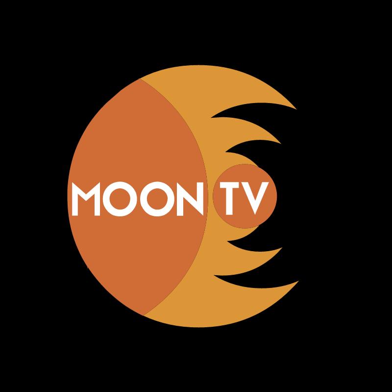 Moon TV vector logo