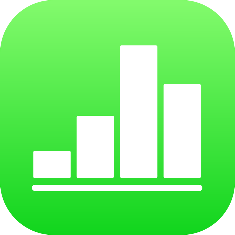 Numbers iOS vector