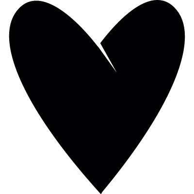elongated heart vector logo